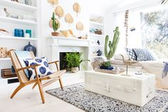 Blue and White Sunroom – with Target   Emily Henderson