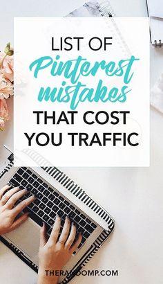 Pinterest mistakes that cost you traffic. #PinterestMarketing #PinterestMarketingtips #PinterestTips #PinterestForBusiness #PinterestStrategy #PinterestGrowthHacks #SMM #PinterestMarketingIdeas #SocialMediaMarketing #SocialMedia ||| Curated by Pinterest Marketing Expert Uzzal Hossain @Pinterest_Xpert