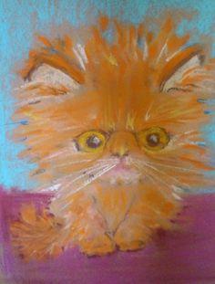 Cat Paintings, Artist Signatures, Paper Frames, Contemporary Artists, Austria, Persian, Original Art, Museum, Kitty