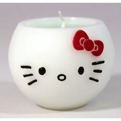 White Hello Kitty Aroma Candle Apple Scent and like OMG! get some yourself some pawtastic adorable cat apparel! Hello Kitty Bathroom, Hello Kitty Rooms, Here Kitty Kitty, Hello Kitty Zimmer, Hello Kitty Collection, Little Twin Stars, Kawaii, Sanrio, Scented Candles