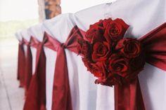 Red Wedding | UGA Wedding | Romantic Wedding | Table Decoration