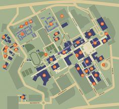 Campus Map Map Design, Sign Design, Amazing Gardens, Beautiful Gardens, Campus Map, Graphic Art, Graphic Design, Diy Garden Decor, Higher Education