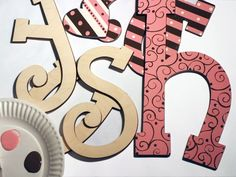 cheap site to order wood letters that come in many fonts, heights and thickness baby