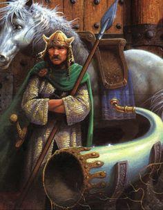 Heimdall – Deus guardião da ponte arco-íris Bifrost, que leva a Aesir. Heimdall tinha os sentidos extremamente apurados, sendo capaz de ouvir até o crescer da grama. Responsável por soar a trombeta que anunciará a batalha final dos deuses.