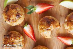 Apple, cinnamon and strawberry no junk muffins