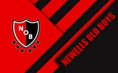 Download wallpapers Newells Old Boys, red black abstraction, Rosario, Argentina, Argentinian football club, 4k, material design, football, Argentine Superleague, First Division