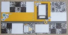 For Always Two Page Scrapbooking Layout www.ScrapiTraci.com #CTMH #ForAlways #ScrapiTraci. Title left off to customize with pics.