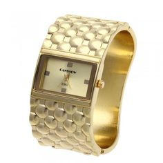 [$8.99] Women Lady Quartz Bracelet Wrist Watch Gold Tone Alloy Band Rectangle Face Hot