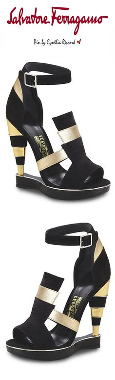 Salvatore Ferragamo This exclusive style was designed by Massimiliano Giornetti to celebrate the Beverly Hills store reopening FW 2015 cynthia reccord Wedge Boots, Heeled Boots, Shoe Boots, Strappy Sandals Heels, Shoes Heels, Flats, Italian Shoes, Cute Heels, Dream Shoes