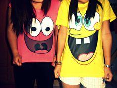 Patrick and spongebob bff shirts Bff Shirts, Best Friend T Shirts, Cute Shirts, Friends Shirts, Sibling Shirts, Funny Shirts, Bff Goals, Best Friend Goals, Your Best Friend