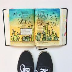 """94 Likes, 7 Comments - Doodles by Jillian (@doodlesbyjillian) on Instagram: """"My soul thirsts for You. #theletteringlife #lettering #handlettering #watercolor #bible…"""""""