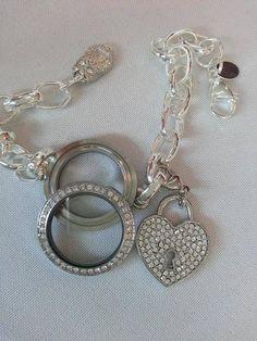 Whoo do you Love? Twist Link Locket & Key to my Heart Dangle