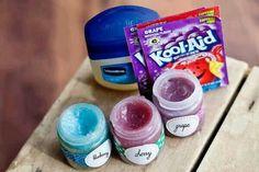 Fun idea for girls to make their own lip gloss