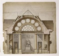 Charles de Wailly  Louvre - Grande Galerie - New Project (c.1785)