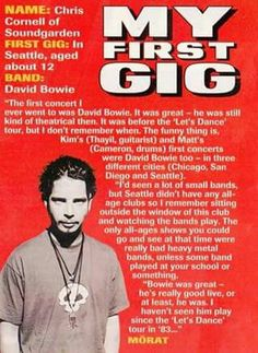 Chris Cornell about the first gig he went (David Bowie)  #chriscornell #soundgarden #audioslave