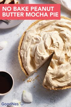 Dive into the light, fluffy texture of this No Bake Peanut Butter Mocha Pie. Cream cheese, peanut butter, whipped topping, Nescafé® Clásico™ 100% Pure Instant Coffee Granules, and Nestlé® Nesquik® Chocolate Flavor Syrup come together in a graham cracker crust to create an irresistible dessert recipe.