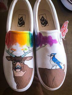 vans shoes red deer