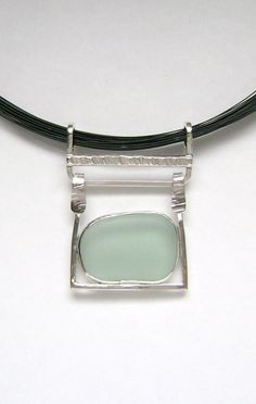 Sea Glass Jewelry  Sterling Blue Sea Glass by SignetureLine, $95.00