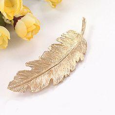 Leaf Metal Hair Clip Girls Fashion Gold/Silver Hairpin Princess Women Hair Accessories Barrettes Hairpins Hair Jewelry Hairclips