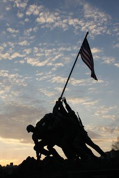 A landmark picture for America: The raised flag at Iwo Jima