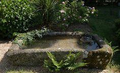 Old granite watering trough
