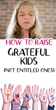 Teach kids to be grateful