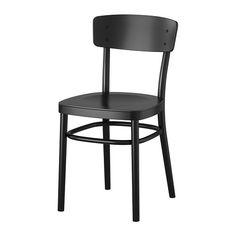 IKEA - IDOLF, Tuoli, Muotoillun selkänojan ansiosta tuolissa on mukava istua.