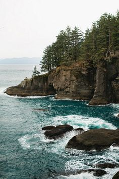 From twilight Cape Flattery, Neah Bay, Washington State Yasmine Galenorn, Places To Travel, Places To See, Places Around The World, Around The Worlds, Arte Gundam, Neah Bay, Beautiful Places, Beautiful Pictures