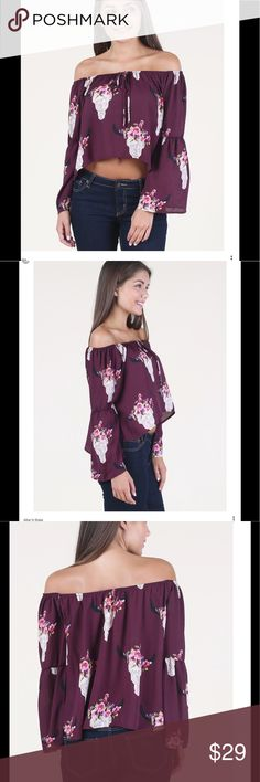 """NEW LISTING NWT Altar'd State O'Keefe crop top❤️❤️ Altar'd State NWT O'Keefe crop peasant top. The top is approx 17 """" from shoulder to hem. The top is 100 percent polyester and is hand wash. Altar'd State Tops Crop Tops"""