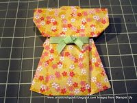 There are A LOT of photos ( a total of 26!) taken to make this Kimono. Washi is suggested due to the lightness of the paper. FYI: SU solid ...