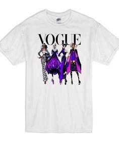 Disney Villian Vogue T Shirt Cute Disney Shirts, Cute Disney Outfits, Disney World Outfits, Disney Shirts For Family, Disney Tees, Funny Shirts, Disney Villain Shirt, Disney Villains, Good Life Shirts