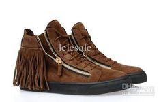 ad22905f2753e Giuseppe Zanotti presents high top fringe sneakers for men for Spring Summer