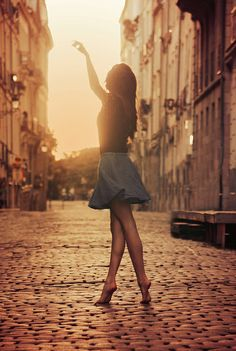 """I danced about the street not caring if anyone watched. I loved the rush of a spring breeze as the sun set perfectly for a sillouett. """"You're good"""" a voice behind me spoke and I stopped and looked at them. """"thank you"""" I said and they smiled ((OPEN RP FANDOMS PLEASE JOIN))"""