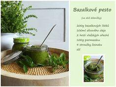 PASTU domov: Domácí bazalkové pesto Pesto, Plants, Plant, Planets