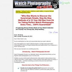[GET] Download Watch Photography Secrets - Learn How To Take Better Watch Photos Now! Bonus! : http://inoii.com/go.php?target=watchphoto