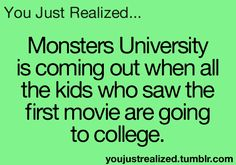Woah....but im not....but i was like 1 wen Monsters Inc. Came out