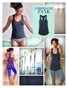 STYLE VITAL | Striped Chi Tank. We all need that one, must-have, can't-go-without chic tank to wear with everything, over and over again. This is it. In breathable, wicking fabric no less. | Athleta Summer 2014 Collection