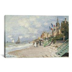 La Plage a Trouville by Monet Canvas Print
