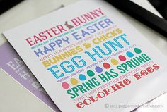 Easter Subway Art Prints: Bunnies & Biblical