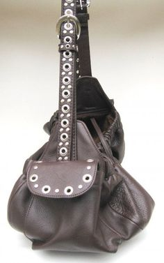 Soft and slouchy leather dog carrier by Around the Collar http://www.aroundthecollar.com/atccarriers.htm