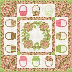 Here are more than 30 free basket quilt patterns. Made with colorful prints, or filled with flowers or fruit, basket quilts are perfect for . Basket Quilt, Quilting Tutorials, Quilt Blocks, Quilt Patterns, Free Pattern, Applique, Quilts, Blanket, Sewing
