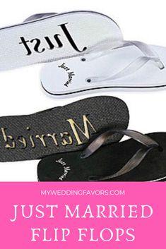 cc89e1bb0 Just married Honeymoon Flip Flops!  affiliate  flipflops  wedding  favors