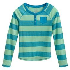 SO Striped Henley - Girls 7-16