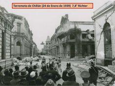 1939, terremoto de Chillán Mexico, Street View, World, Painting, Grande, Vintage, Places, Old Dolls, Santiago