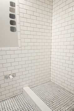 10 Tips for Installing Subway Tile in Your Bathroom. We love the classic look of subway tile in a bathroom space, but there are some things you should know before installing this inexpensive tile. Read these DIY tips before your next tiling project! Diy Bathroom Remodel, Bathroom Renovations, Bathroom Interior, Home Renovation, Home Remodeling, Bathroom Ideas, Bathroom Tubs, Bathroom Updates, Bathroom Makeovers