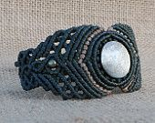 Gold Sheen Obsidain macrame bracelet - stone size approx. 1.9cm/1.9cm