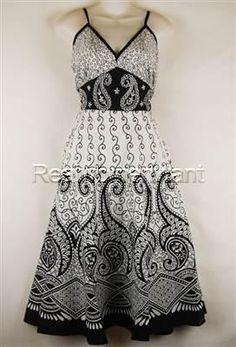 RWW~New JUNIORS Plus Size 1X-3X Black White Embroidered Cotton Empire Sun Dress