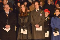 Kate Middleton and Prince William attend pre-dawn ceremony