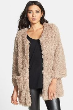 22 Faux Fur Coats For A Wildly Warm Winter #refinery29  http://www.refinery29.com/59635#slide6  Lark Faux Fur Swing Coat, $88, available at Nordstrom.