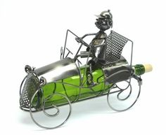 Whimsical Antique Car Wine Bottle Holder